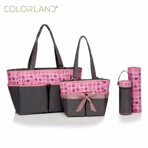 Family Set Diaper Bag – Pink