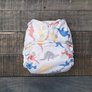 3pc One Size Pocket Bundle –  Blue/Dinosaurs/Grey