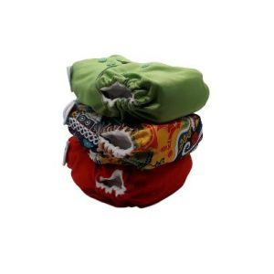 3pc One Size Pocket Bundle – Red/Chinese Ship Ahoy/Apple Green