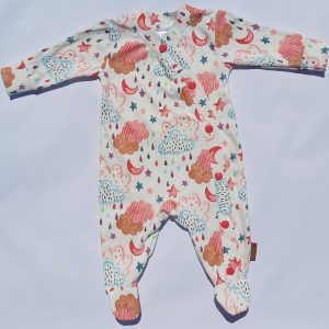 Snap-up Footed Sleeper – Girl Cloud