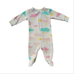 Bum Couture Zip-up Footed Sleeper – Clouds