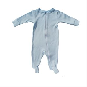 Bum Couture Zip-up Footed Sleeper – Blue