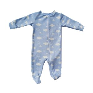 Bum Couture Zip-up Footed Sleeper – Blue Clouds