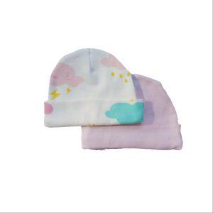 2pc Newborn Hat Set – Girl Cloud & Pink