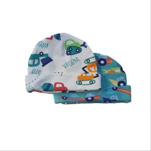 2pc Newborn Hat Set – Tractor/Racecar