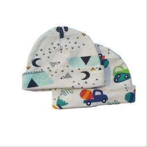 2pc Newborn Hat Set – Teepee Tent & Tractor