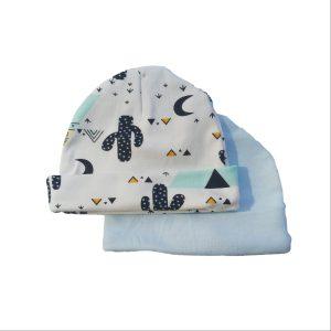 2pc Newborn Hat Set – Teepee Tent/Blue